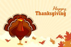 Free Turkey Wishing Happy Thanksgiving Royalty Free Stock Photography - 26863037