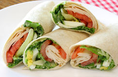 Turkey Wrap Sandwich Royalty Free Stock Photography