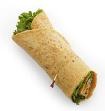 Turkey Wrap Sandwich Royalty Free Stock Photos