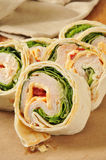 Turkey wrap sandwich Royalty Free Stock Photography