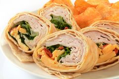 Turkey wrap sandwich Stock Photo