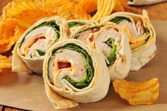 Turkey wrap sandwich Stock Photography