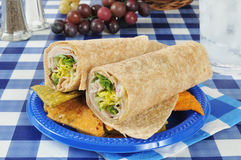 Turkey wrap sandwich Royalty Free Stock Image