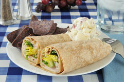 Turkey wrap sandwiches Stock Photo
