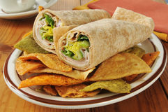 Turkey wrap sandwiches Stock Image