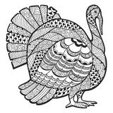 Turkey zentangle Stock Photo
