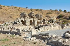 Turkey1. Ephesus State Agora Baths in Turkey, 2nd Century Royalty Free Stock Photo