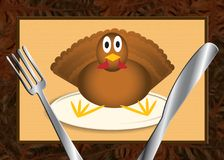 Turkeydinner. Turkey finds himself as thanksgiving dinner Stock Images