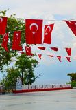 Turkey, Antalya, May 10,2018. Turkey Euro 2024 slogan Birlikte Paylasalim, translation from Turkish as Share together royalty free stock photo