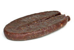 Turkic summer sausage (Sucuk) Stock Photo