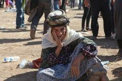 TURKIET ÖPPNADE DESS GRÄNS TILL SYRIAN Arkivbild