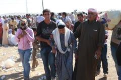 TURKIET ÖPPNADE DESS GRÄNS TILL SYRIAN Royaltyfria Foton