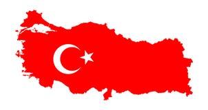 Turkiet översikt och flagga vektor illustrationer