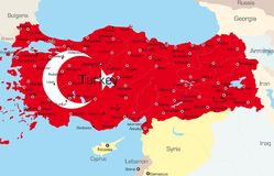 Turkiet stock illustrationer