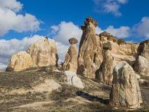 Turkiet Cappadocia, stenchampinjoner Royaltyfria Foton