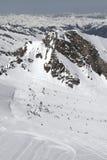 Turkiet centrala Taurus Mountains, Aladaglar (Anti--Oxen) sikt från platån Edigel (Yedi Goller) Royaltyfri Foto