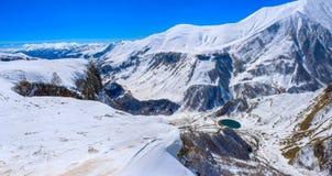 Turkiet centrala Taurus Mountains, Aladaglar (Anti--Oxen) sikt från platån Edigel (Yedi Goller) Arkivbild