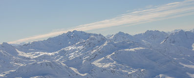 Turkiet centrala Taurus Mountains, Aladaglar (Anti--Oxen) sikt från platån Edigel (Yedi Goller) Arkivfoton