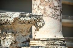 Turkiet Ephesus, fördärvar av den forntida roman staden Fotografering för Bildbyråer