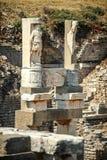 Turkiet Ephesus, fördärvar av den forntida roman staden Arkivbilder