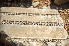 Turkiet Ephesus, fördärvar av den forntida roman staden Royaltyfri Bild