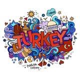Turkiet handbokstäver och klotterbeståndsdelar
