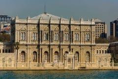 Turkiet Istanbul - April 07, 2016: Dolmabahce slott Arkivbilder