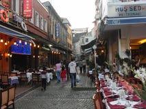 Turkiet istanbul natt Fotografering för Bildbyråer