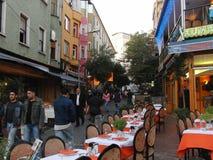 Turkiet istanbul natt Royaltyfri Fotografi