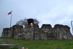 Turkiet Istanbul, Riva, Castell Arkivbild