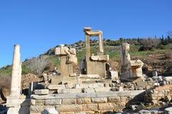 Turkiet Izmir, Bergama i Hellenistic bad för gammalgrekiska, denna är en verklig civilisation, badar royaltyfria bilder