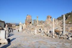 Turkiet Izmir, Bergama i Hellenistic olik A trevlig inledning för gammalgrekiska, denna är en verklig civilisation, badar royaltyfri bild