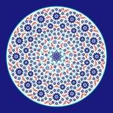 Turkiet Iznik färgglad blom- prydnad royaltyfri illustrationer