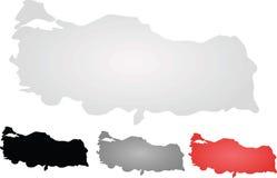 Turkiet kartlägger Royaltyfria Bilder