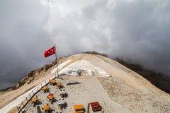 Turkiet Kemer, montering Tahtali (Olympos) Arkivfoton
