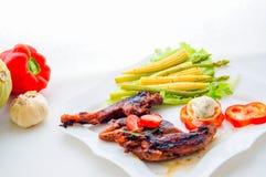 Turkiet med grönsaker Arkivbild
