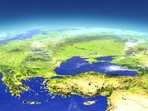 Turkiet och Black Sea region från utrymme royaltyfri illustrationer