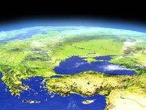 Turkiet och Black Sea region från utrymme stock illustrationer