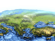 Turkiet och Black Sea region på jord - synligt havgolv royaltyfri illustrationer
