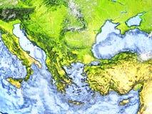 Turkiet och Black Sea region på jord - synligt havgolv stock illustrationer