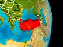 Turkiet på jord Arkivfoto