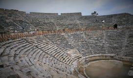 Turkiet Pamukkale, Hierapolis fördärvar Arkivfoto
