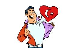 Turkiet patriot som isoleras på vit bakgrund royaltyfri illustrationer
