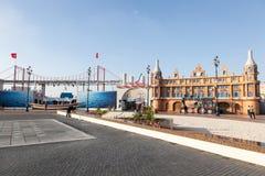Turkiet paviljong på den globala byn i Dubai Fotografering för Bildbyråer