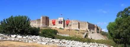 Turkiet/Selçuk:  Selçuk slott Arkivbild