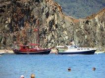 Turkiet skepp reser att intressera som studerar historien av simning Royaltyfria Foton