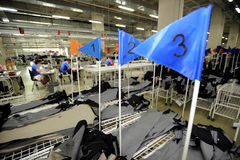 Turkiet textilsektor Royaltyfri Foto