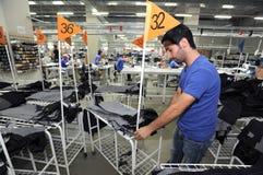 Turkiet textilsektor Fotografering för Bildbyråer