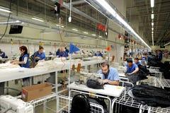 Turkiet textilsektor Arkivbilder