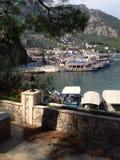 Turkiet Turunc strand och fjärd Arkivbilder